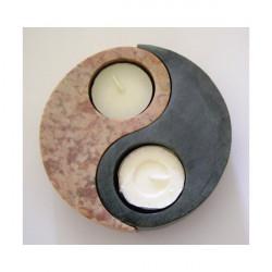 Bougeoir Yin & Yang en stéatite