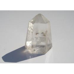 Pointe polie monoterminée en cristal de roche