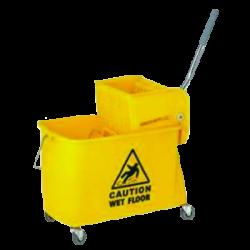 Chariot de nettoyage ultra-compact 20 l cloison amovible 2 x 10 l + presse à plat